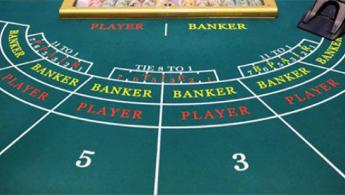 baccarat or punto banco table